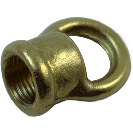 boucle femelle femelle sortie de câble M10 filetage laiton laitonnée doré or métal électrique électricité