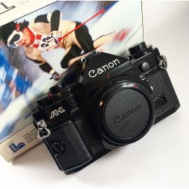 canon a1 analog camera reflex 35mm 135 boxed body mint wrapped 1980 olympic games