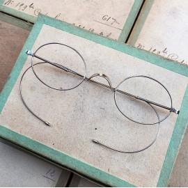 glasses spectacles vintage antique 19th century antique antiques metal titanium 1880 1870