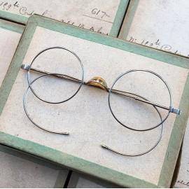 lunette ancienne métal XIX ème 1880 1870 titane paladium vue soleil solaire alphonse retro