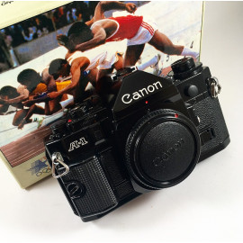 canon a1 analog camera reflex 35mm 135 boxed body mint wrapped 1984 olympic games