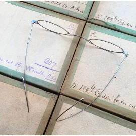 lunette ancienne métal XIX ème 1880 1870 titane paladium vue soleil solaire anatole retro