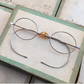 lunette ancienne métal XIX ème 1880 1870 titane paladium vue soleil solaire edgar retro