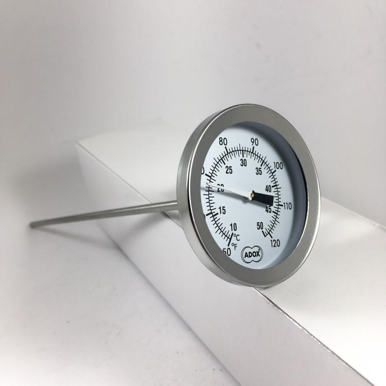 Thermomètre adox développement argentique couleur noir et blanc chimie degré fahrenheit