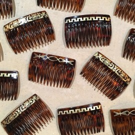 vintage comb for women woman 1930 plastic french manufacture antique