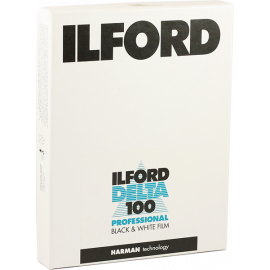 ilford delta 100 sheets negative black and white 4x5 inch analog 25