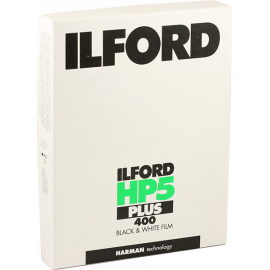 ilford hp5 plus 400 sheets negative black and white 4x5 inch analog 25