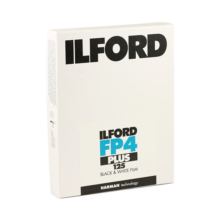 ilford fp4 plus 125 sheets negative black and white 4x5 inch analog 25