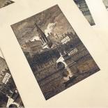 gravure image noir et blanc ancienne ancien stock imprimerie impression lyon vieux lyon 1930 st georges fourvière