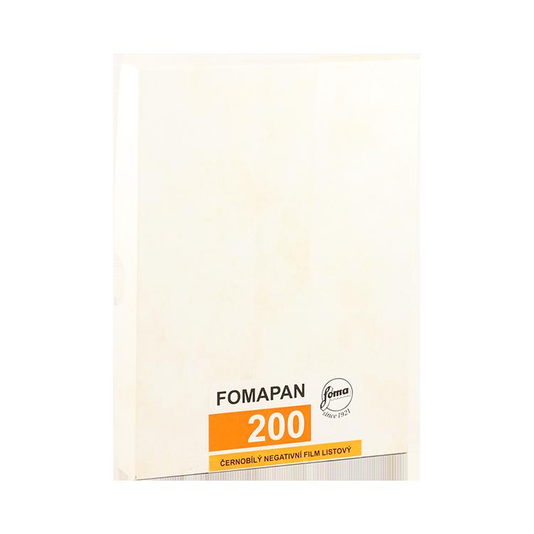 foma fomapan 200 4 5 inch plan film 4x5 inch argentique negatif noir et blanc 50pcs