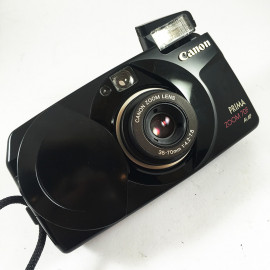 Canon camera analog prima zoom 70f noir 35mm compact autofocus zoom 35mm 70mm 4.2 7.8 point and shoot
