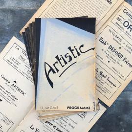 Programme de Cinema Theatre Ancien Lyon Vintage Artistic 1938 1939 1940