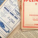 Movie Theater Program Lyon France Antique Vintage Paper Splendor 1938 1939