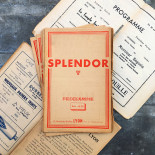 Programme de Cinema Theatre Ancien Lyon Vintage Splendor 1938 1939