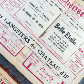 Programme de Cinema Theatre Ancien Lyon Vintage Athénée Rouge 1938 1939 1940