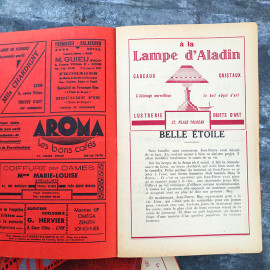 Movie Theater Program Lyon France Antique Vintage Paper Athénée Rouge 1938 1939 1940