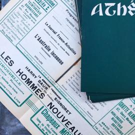 Movie Theater Program Lyon France Antique Vintage Paper Athénée Rouge 1936 1937