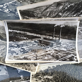 aerial photography photo antique 1958 vintage black and white france french territory school lapie