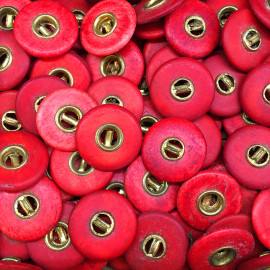 pants button trousers red gold golden 17mm wood antique vintage military army french