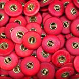 bouton ancien rouge pantalon bois rouge laiton 17mm culotte 1900 militaire armée française
