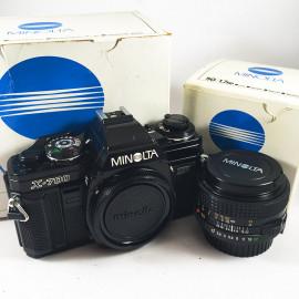 minolta x 700 x-700 50mm mc 1.7 reflex 1981 camera argentique ancien vintage boite box