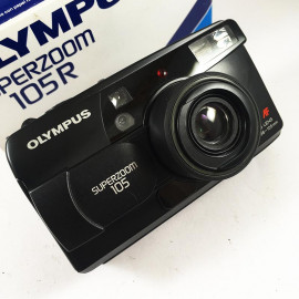 olympus af superzoom 105r zoom point and shoot ancien vintage 38-105mm  argentique 1999 compact camera boite box