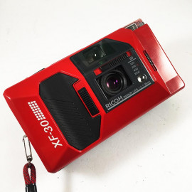 ricoh xf30 rouge 35mm f4 compact point and shoot ancien vintage flash 1985 argentique