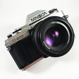 minolta x-500 50mm 1.7 reflex analog 35mm analog film camera vintage