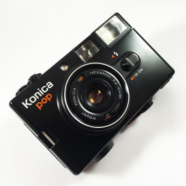 konica pop noir ancien vintage automatique hexanon 36mm 4 point and shoot flash
