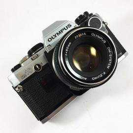 olympus om10 zuiko auto s 50mm 1.8 vintage analog camera reflex