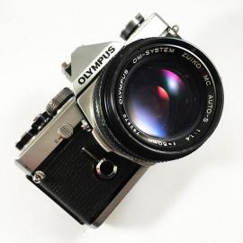 olympus om1 135 argentique zuiko 50mm 1.4 reflex zuiko argent appareil vintage