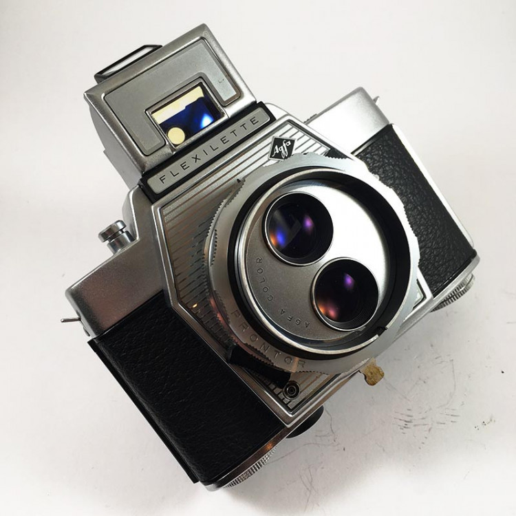 agfa flexilette apotar tlr 45mm 2.8 bi-lens 135 manual 1960 vintage antique