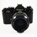 appareil reflex argentique nikon fe2 noir nikkor 28mm f2 35mm film