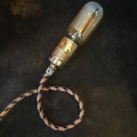 cable electrique couleur fil textile vintage tissu marine noir rond chanvre escalade montagne coloré luminaire lampe