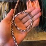cable electrique fil textile vintage tissu croisillon chanvre et rouge rond