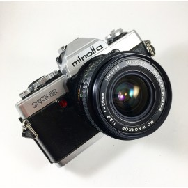 minolta xg2 rokkor 28mm 2.8 appareil argentique ancien reflex auto mode xg7