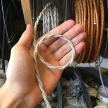 cable electrique fil textile vintage tissu chanvre torsadé lampe luminaire