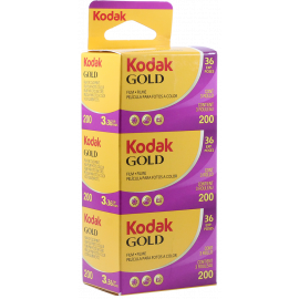 tripack kodak gold 200 35mm pellicule argentique film photo 135 36 poses vintage