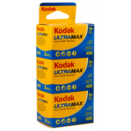 kodak ultramax 400 iso 35mm 135 tripack analog films 3 rolls photo photography color