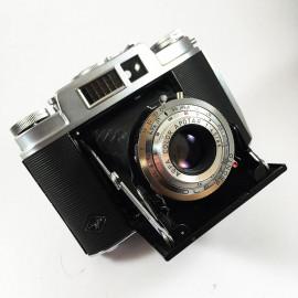 agfa isolette l apotar 85mm 4.5 soufflet moyen format film 120 manuel 1958 1960 ancien vintage cellule