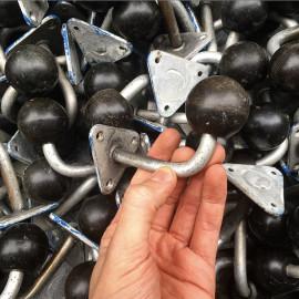 patère bar métal métallique boule bakelite ancien vintage stock 1960 porte manteau unitaire
