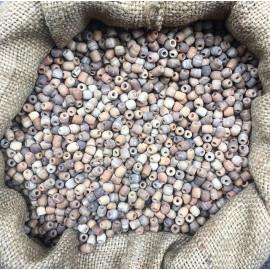 perles de coco naturelle lot de 100 pièces ancienne vintage stock fabricant chapelet 1930