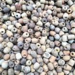 perles de coco 5mm naturelle lot de 100 pièces ancienne vintage stock fabricant chapelet 1930
