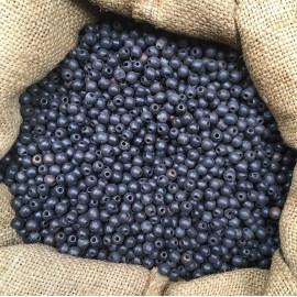 perles de coco noire 5mm noir lot de 100 pièces ancienne vintage stock fabricant chapelet 1930