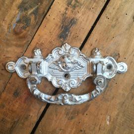 poignée ange mortuaire cercueil eglise porte métallique métal ancienne vintage 1900 religieux