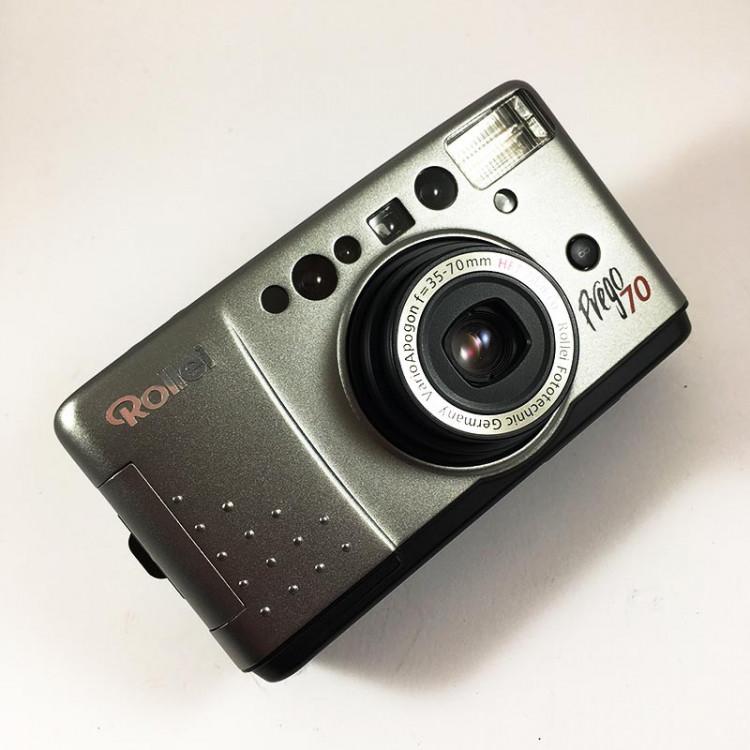 rollei prego 70 35mm 70mm macro compact point and shoot autofocus ancien vintage flash argentique