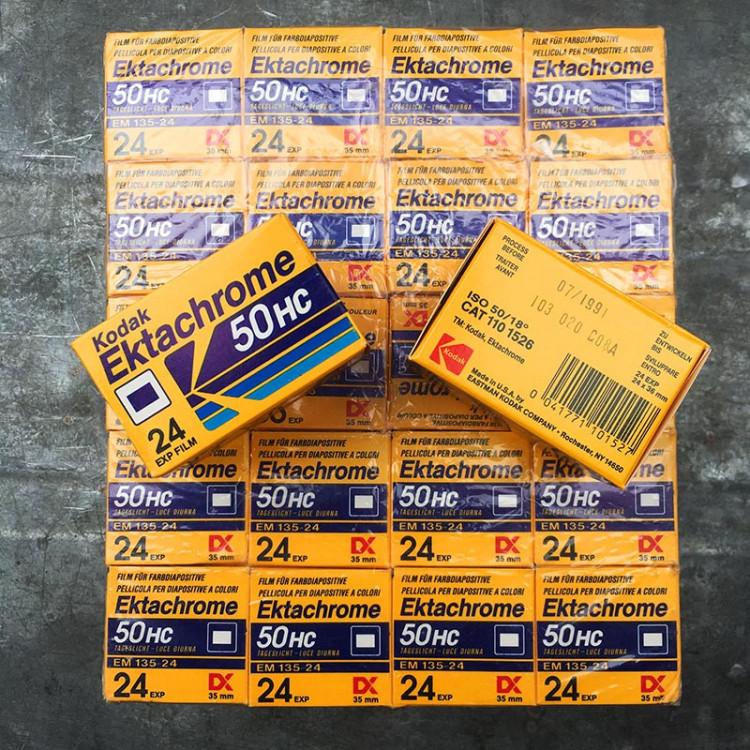 kodak ektachrome 50 HC diapo diapositive slide film color analog camera 24 exposures vintage expired