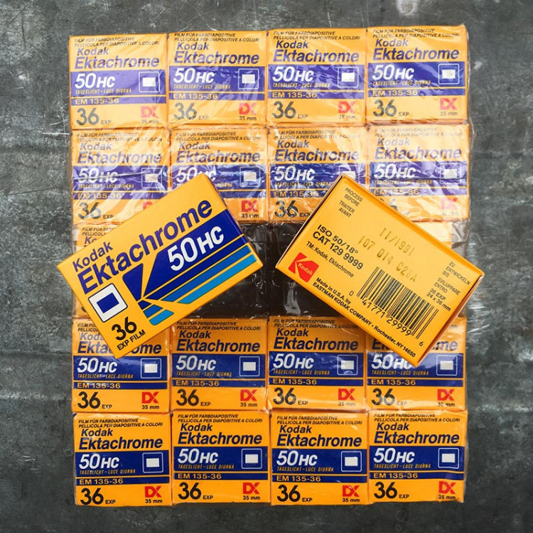 kodak ektachrome 50 HC diapo diapositive slide film color analog camera 36 exposures vintage expired