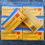 pack 5 ektachrome kodak 64T tungsten 64 iso diapo positif pellicule 120 argentique moyen format e6 photographie 1997 périmée