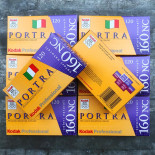 kodak portra 160 NC natural color expired print film pack 5 analog camera photo 2005 expired 120 roll